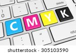 cmyk digital offset printing... | Shutterstock . vector #305103590