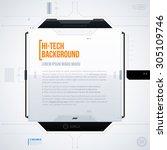 hi tech vector template. eps10 | Shutterstock .eps vector #305109746