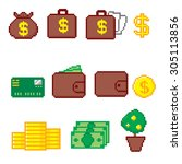 business and finance icon set.... | Shutterstock .eps vector #305113856