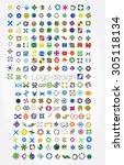 company logos mega collection ...   Shutterstock .eps vector #305118134
