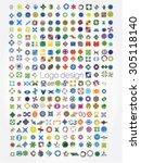 company logos mega collection ...   Shutterstock .eps vector #305118140