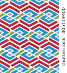 mosaic seamless pattern with... | Shutterstock .eps vector #305119400