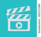 film maker clapper board icon.... | Shutterstock .eps vector #305121380
