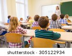 education  elementary school ... | Shutterstock . vector #305122934