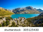 the artificial cuber lake in... | Shutterstock . vector #305125430