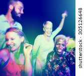 diverse ethnic friendship party