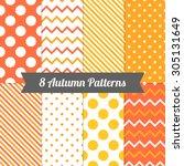 Set Of Autumn Seamless Pattern...