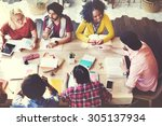 diverse architect people group...   Shutterstock . vector #305137934