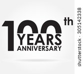 100 years anniversary sign or... | Shutterstock .eps vector #305142338