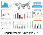 collection of infographic set... | Shutterstock .eps vector #305145914