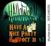 halloween background  | Shutterstock .eps vector #305148350
