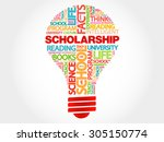 scholarship bulb word cloud ... | Shutterstock .eps vector #305150774