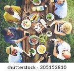 friends friendship outdoor... | Shutterstock . vector #305153810