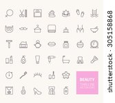 beauty outline icons for web... | Shutterstock .eps vector #305158868
