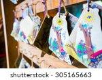message board outside train... | Shutterstock . vector #305165663