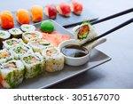 Sushi Maki And Niguiri With So...
