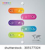 infographic design template and ... | Shutterstock .eps vector #305177324