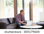 businessman having working...   Shutterstock . vector #305179604