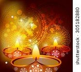 diwali celebration background | Shutterstock .eps vector #305182880