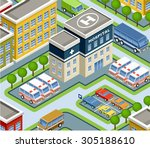 isometric hospital. vector | Shutterstock .eps vector #305188610