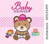 baby shower   Shutterstock .eps vector #305191499