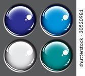 colored buttons isolated on... | Shutterstock .eps vector #30520981