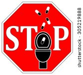 no drugs down the toilet. no...   Shutterstock . vector #305219888
