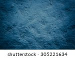 Grungy Deep Blue Concrete Wall...