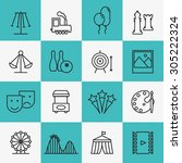 fun and entertainment icons.... | Shutterstock . vector #305222324