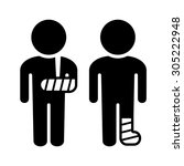 broken arm and leg icons set.... | Shutterstock .eps vector #305222948