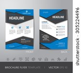 polygon business brochure flyer ... | Shutterstock .eps vector #305224496
