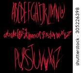 psychopath's vector horror...   Shutterstock .eps vector #305226398