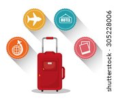travel vacations design  vector ... | Shutterstock .eps vector #305228006