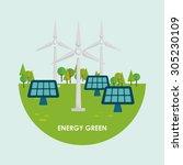 go green design  vector... | Shutterstock .eps vector #305230109