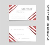 vector business card template   ... | Shutterstock .eps vector #305231108