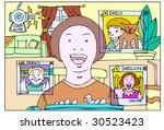 online chat   Shutterstock . vector #30523423