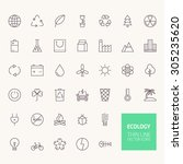 ecology outline icons for web... | Shutterstock .eps vector #305235620