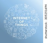 internet of things | Shutterstock .eps vector #305251694