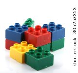 building blocks | Shutterstock . vector #305253353
