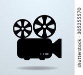 icon of film projector. cinema... | Shutterstock . vector #305255570