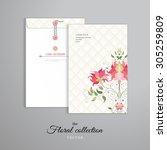 vector template. vertical big... | Shutterstock .eps vector #305259809