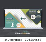 business theme outdoor banner... | Shutterstock .eps vector #305264669