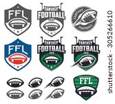 american football fantasy... | Shutterstock . vector #305266610