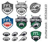 american football fantasy... | Shutterstock . vector #305266610