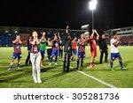 bangkok thailand  august 9 ... | Shutterstock . vector #305281736