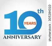 10 years anniversary template... | Shutterstock .eps vector #305284310