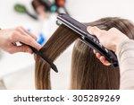 close up of a hairdresser...   Shutterstock . vector #305289269