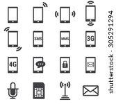 phone icon | Shutterstock .eps vector #305291294