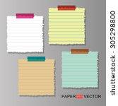 paper sheet design  vector... | Shutterstock .eps vector #305298800