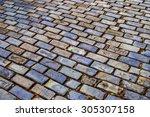 Street Brick Stones In Old San...